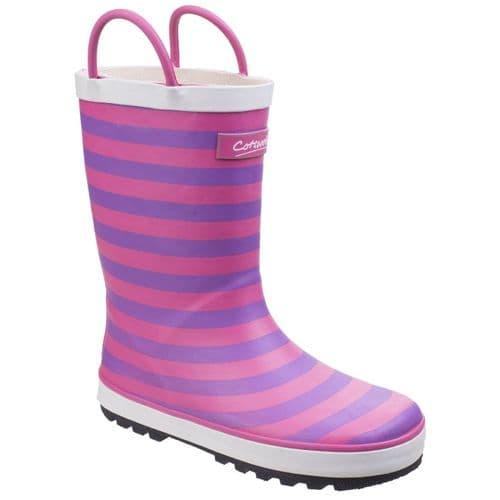Cotswold Captain Childrens Wellingtons Pink